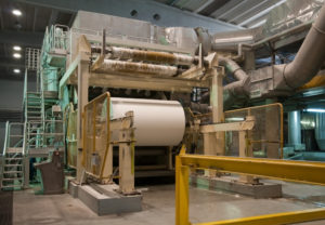 Paper and pulp mill - Fourdrinier Paper Machine. The Fourdrinier accomplishes all the steps needed to transform a source of wood pulp into a final paper product.