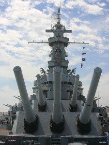 view of the battleship USS Alabama